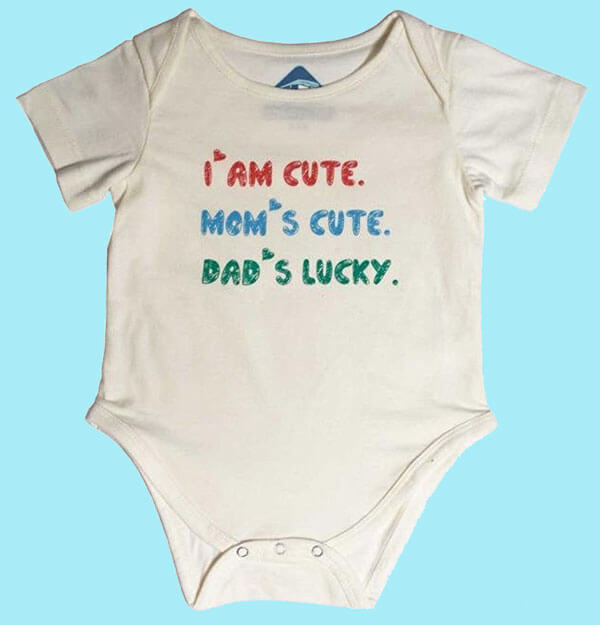 Funky Onesie: Dad's Lucky 394
