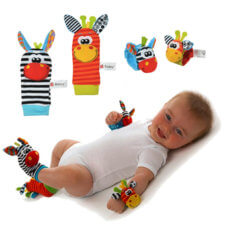 wrist foot rattle toy