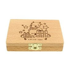 Baby Wooden Tooth Box 527