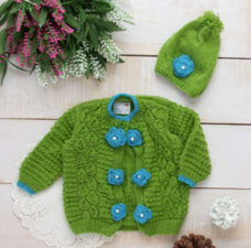 green sweater set