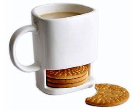 Coffee Mug with Biscuit Holder