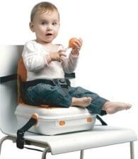 booster seat with storage box