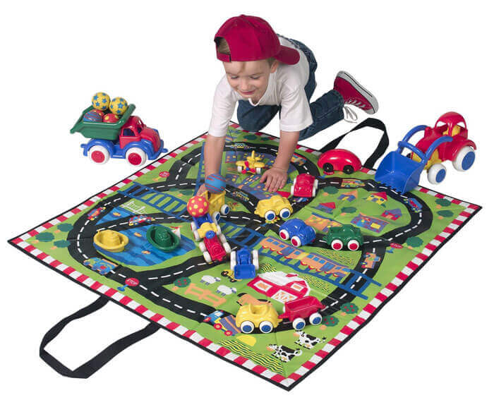 Play Mat With Tracks Cum Tote Bag 1385