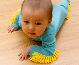 baby onesie with mop