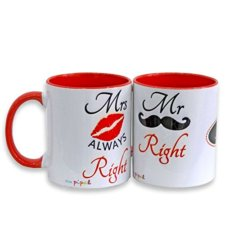 Personalised Mr. and Mrs. Right Mug