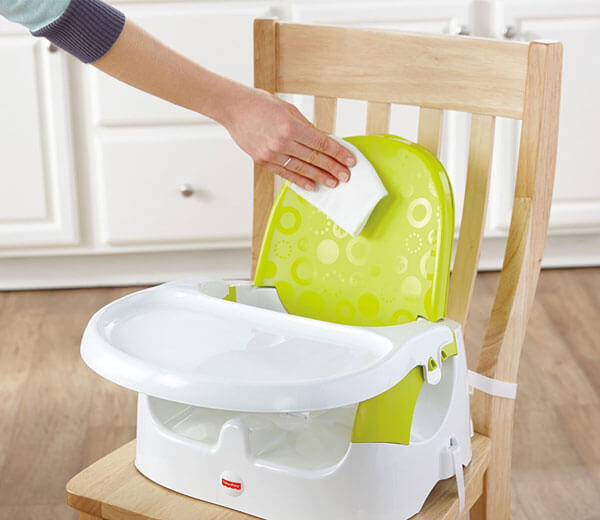 Baby Booster Chair With Wipes Holder 1691