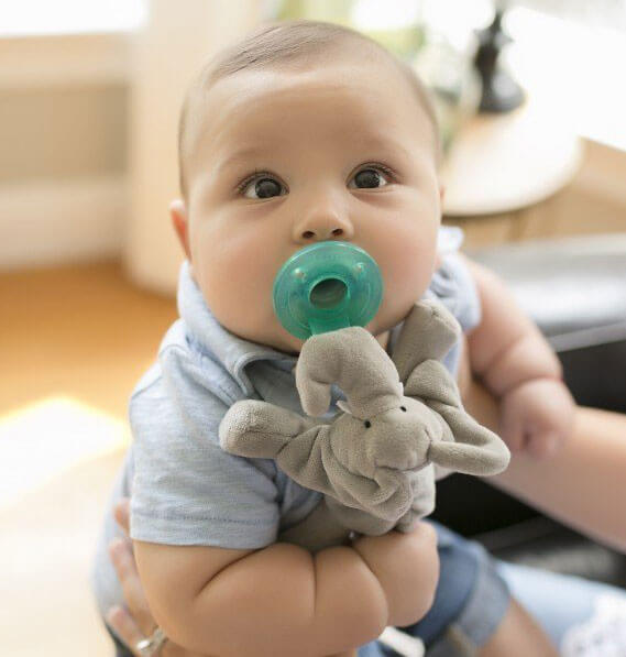 pacifier plush toy