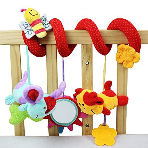 Multi-Function Plush Spiral Rattle Toy 1911
