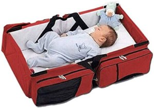 Diaper Bag Cum Travel Bed