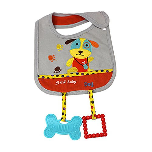Baby Bib With Teether 2222