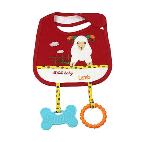 Baby Bib With Teether 2227