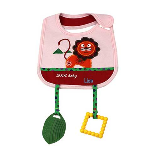 Baby Bib With Teether 2226