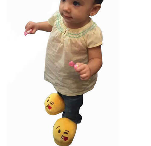 Emoji Plush Slippers 2211