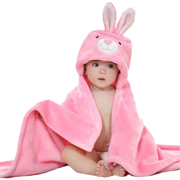 Hooded Bunny Baby Blanket (Pack Of 2) 2157