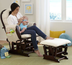 Nursing Glider And Ottoman 2293