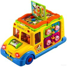 school bus activity toy