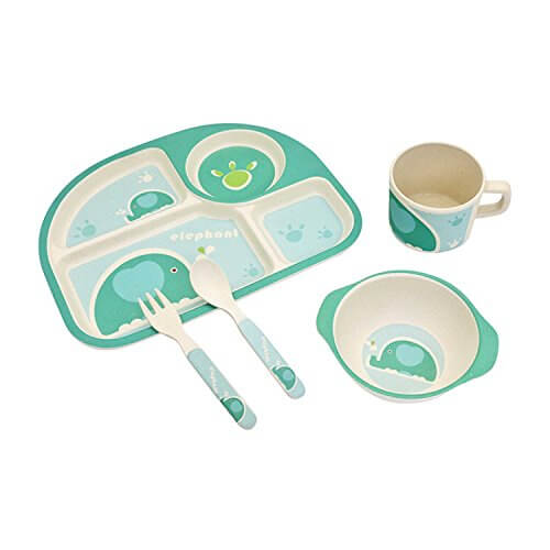 Eco-friendly Bamboo Fibre Kids Tableware 2653