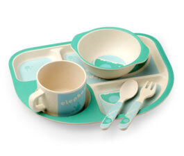 Eco-friendly Bamboo Fibre Kids Tableware 2656