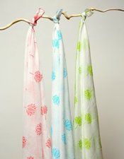Indian LotusMuslin Swaddle Cloth 2887