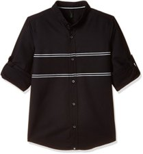 United Colors of Benetton Black With Stripe Shirt 2939
