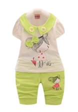 Baby Girl Summer Set With Flower Collar 2929