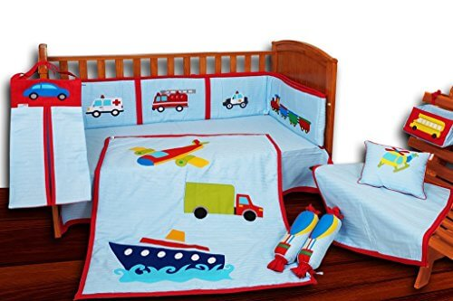 Transport Theme Crib Bedding Set 2850