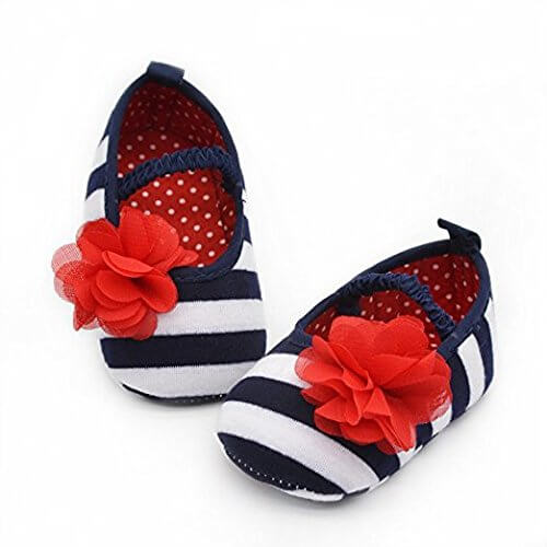 Baby Girls Striped Shoes 2891