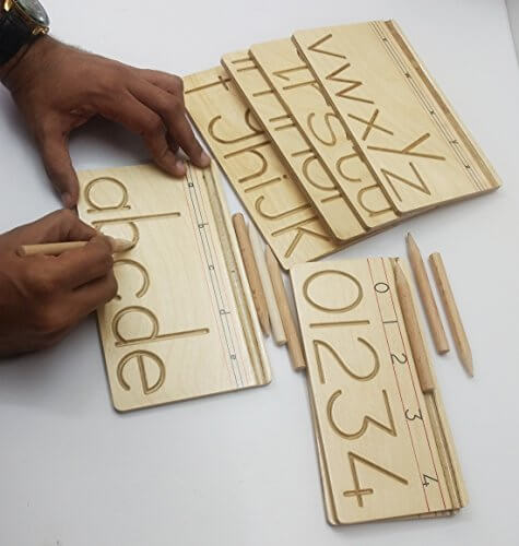 Wooden Alphabet and Number Writing Practice Board 2951