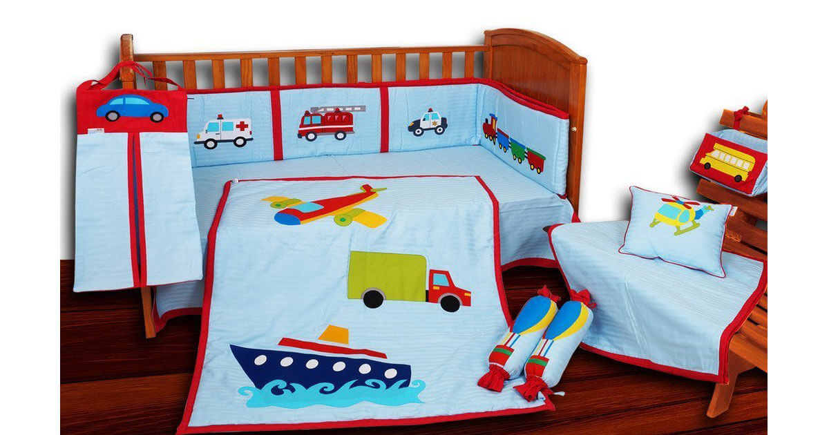 Transport Theme Crib Bedding Set 2851