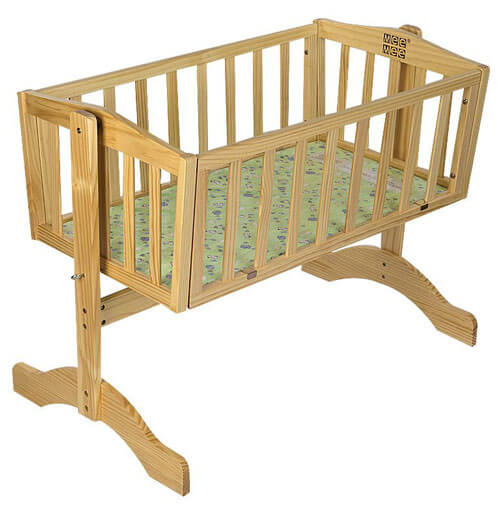 Wooden Cradle With Mosquito Net 2876