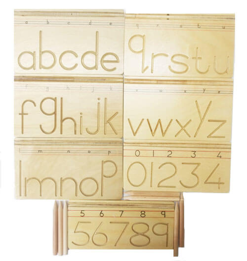 Wooden Alphabet and Number Writing Practice Board 2952