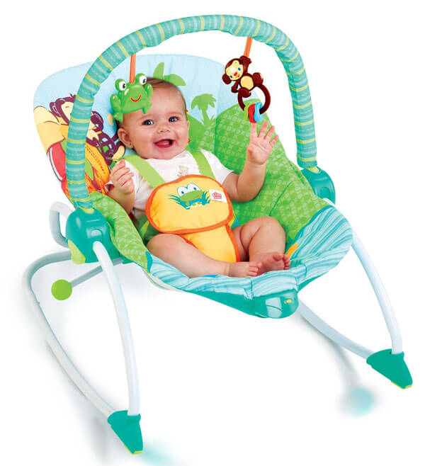Peek -A-Zoo Baby Rocker 3190