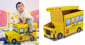 Bus Shaped Toy Storage Chest 3196