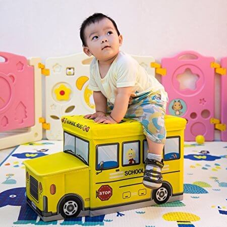 Bus Shaped Toy Storage Chest 3197