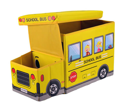 Bus Shaped Toy Storage Chest 3195